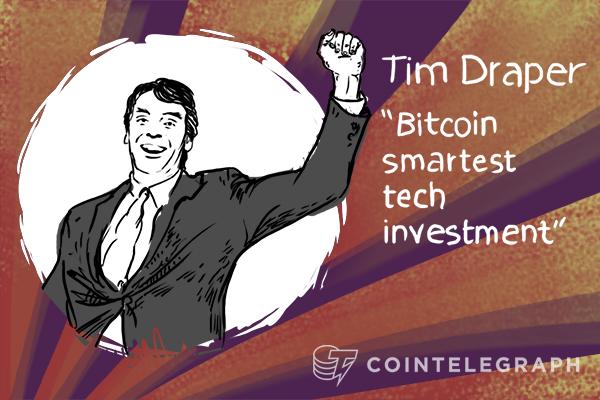 "Tim Draper ""Bitcoin smartest tech investment"""