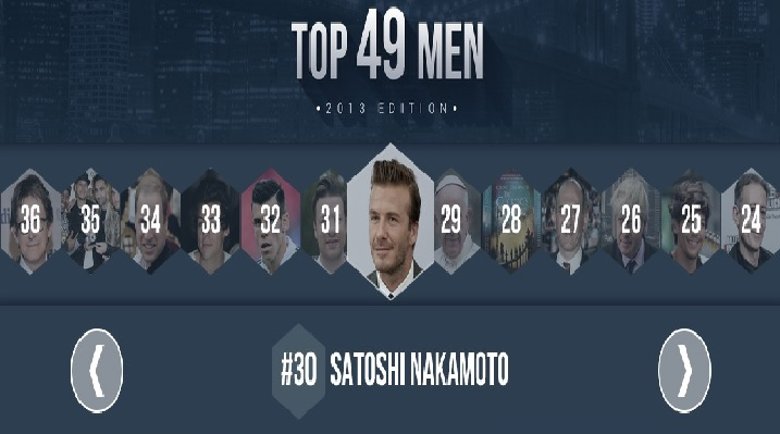 Askmen.com lists Satoshi Nakamoto among most influential men
