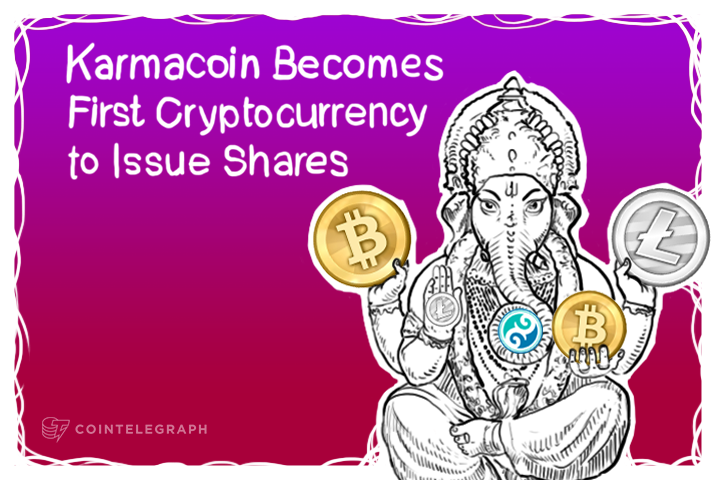 Karmacoin Becomes First Cryptocurrency to Issue Shares