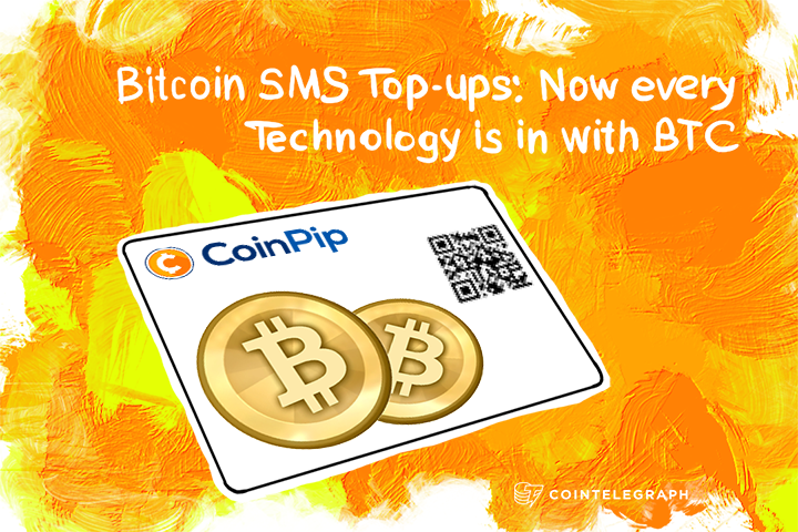 Bitcoin SMS Top-ups: Now every Technology is in with BTC