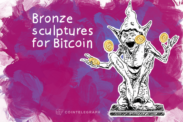Bronze sculptures for Bitcoin