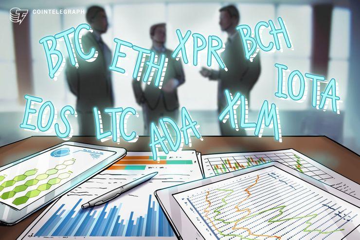 Bitcoin, Ethereum, Ripple, Bitcoin Cash, EOS, Litecoin, Cardano, Stellar, IOTA: Analisi dei prezzi, 18 giugno