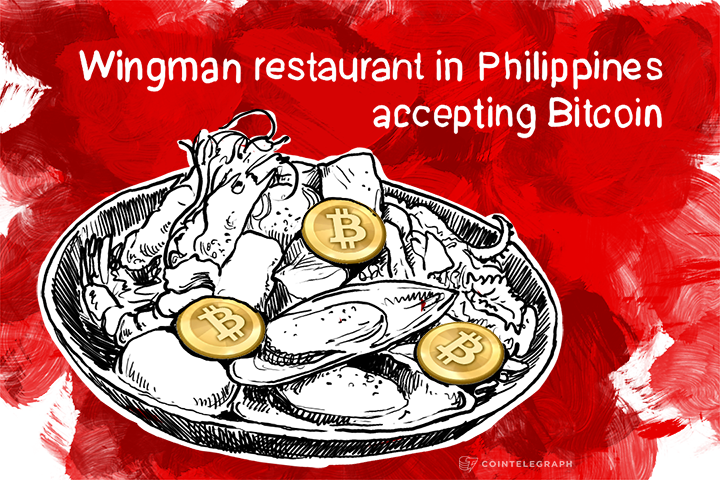 Wingman restaurant in Philippines accepting Bitcoin
