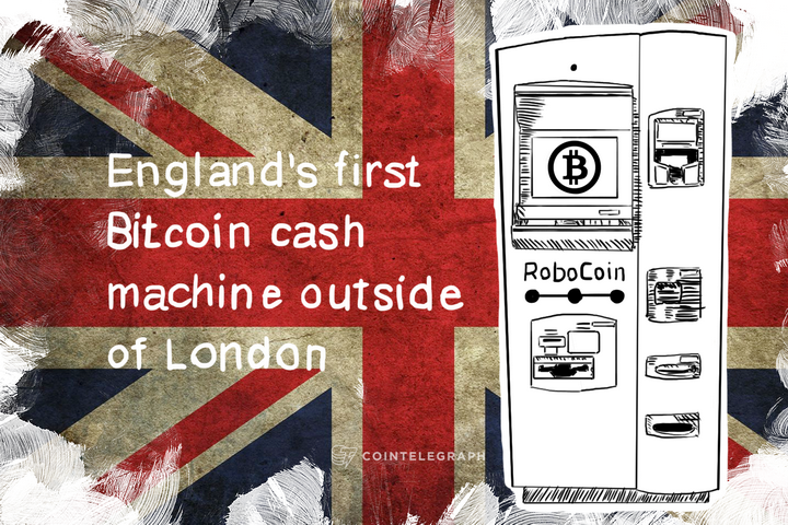 England's first Bitcoin cash machine outside of London