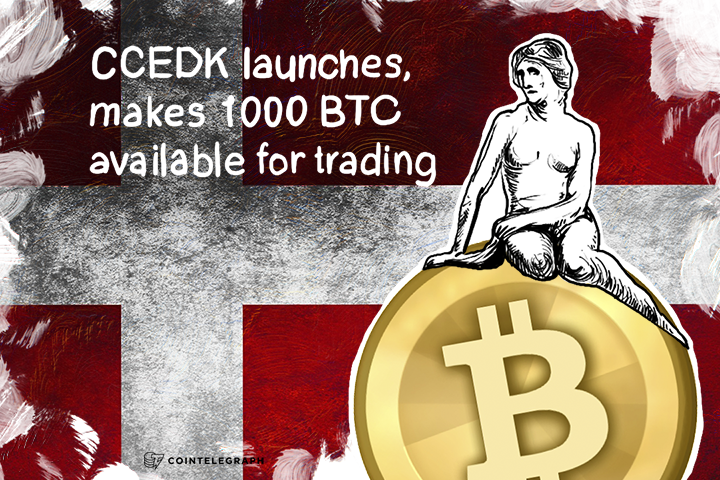 CCEDK launches, makes 1000 BTC available for trading