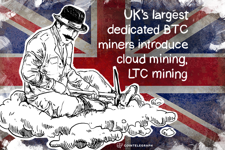 UK's largest dedicated BTC miners introduce cloud mining, LTC mining