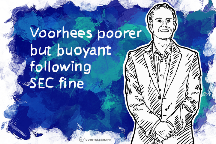 Voorhees poorer but buoyant following SEC fine