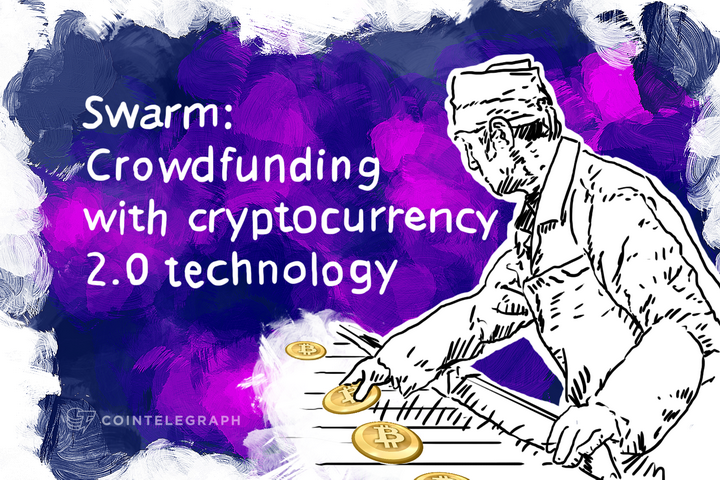 Swarm: Crowdfunding with cryptocurrency 2.0 technology