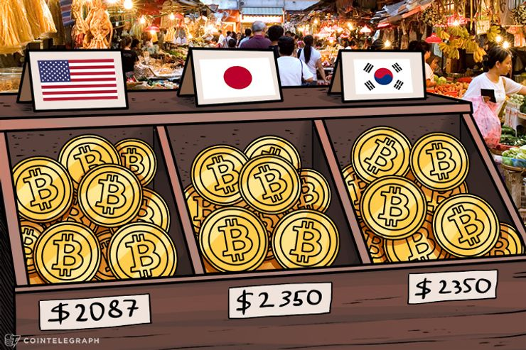 Bitcoin Price Hits $2,087, Trading in Japan, South Korea for $2,350