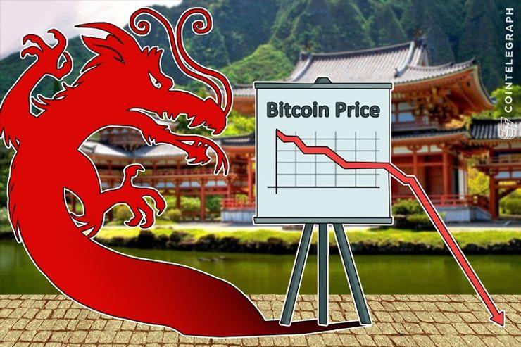 China Warns Bitcoin Users, Panic Sellers Drive Bitcoin Price Down 21 Percent