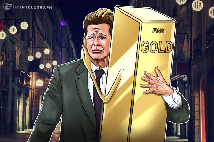 As vendas de Ouro subiram durante a quebra do cripto mercado, destacando a relação entre eles