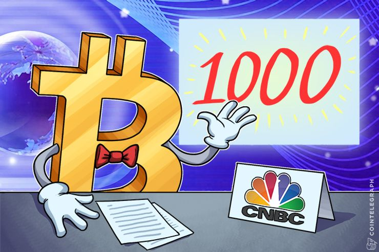 CNBC: Forget About Dow, Bitcoin to Reach $1,000
