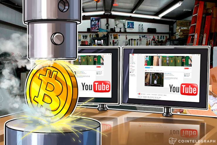 major tech youtube channel hydraulic press accepts bitcoin donations