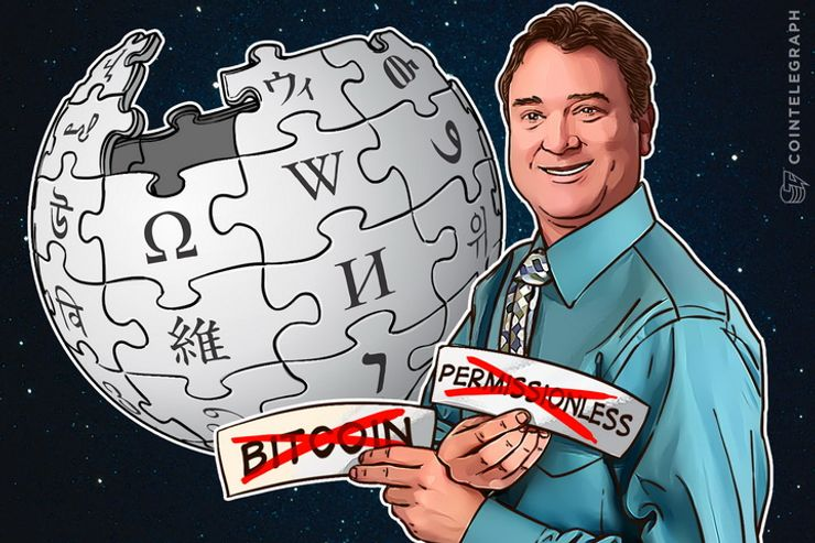 Wikipedia Edit War Over Blockchain Permissionless