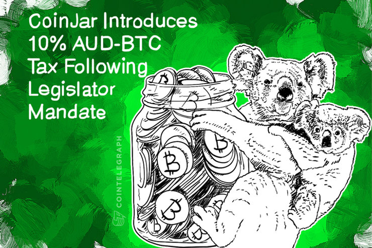 CoinJar Introduces 10% AUD-BTC Tax Following Legislator Mandate