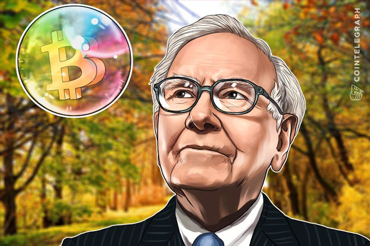 Billionaire Investor Warren Buffett Says Leading Cryptocurrency Bitcoin in 'Bubble' Territory