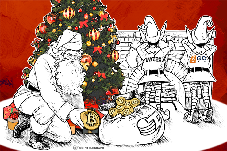 Ho-Ho-Ho! Have a Merry Bitcoin Christmas Compliments of Virtex, EgoPay