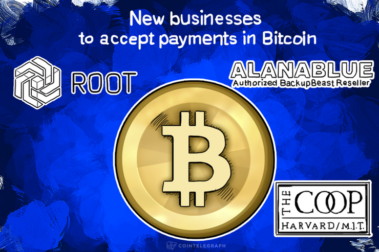 New businesses to accept payments in Bitcoin