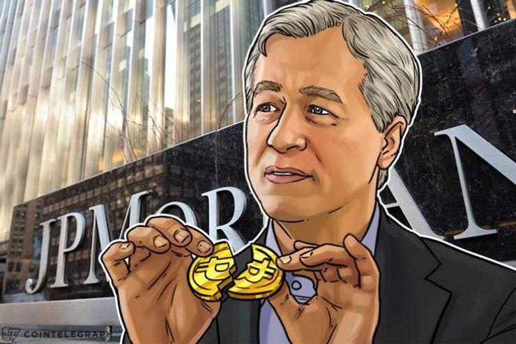 O CEO da JPMorgan faz afirmações pouco claras sobre Bitcoin e Governo, de repente gosta de Blockchain