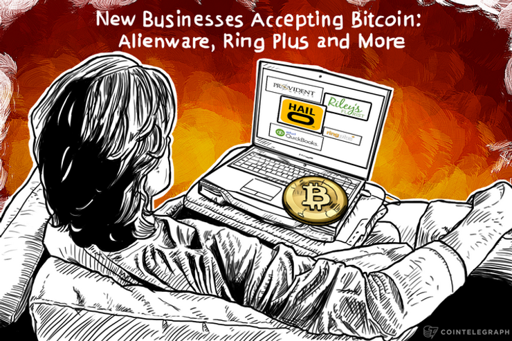 New Businesses Accepting Bitcoin: Alienware, Ring Plus and More