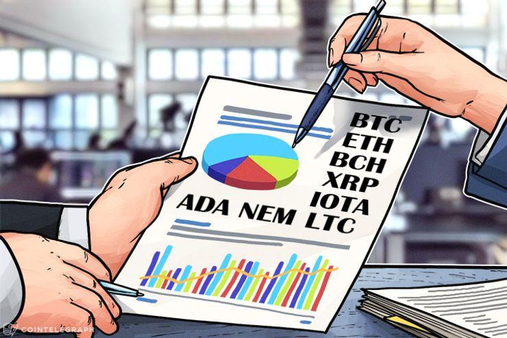 Análise de preços, 10 de janeiro: Bitcoin, Ethereum, Bitcoin Cash, Ripple, IOTA, Litecoin, NEM e Cardano