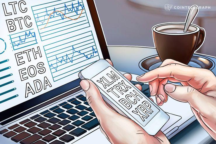 5月25日 仮想通貨チャート分析:ビットコイン、イーサリアム、リップル、ビットコインキャッシュ、EOS、ライトコイン、カルダノ、ステラ、トロン