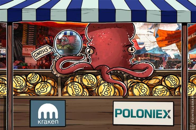 Largest Crypto Exchanges Kraken, Poloniex Start Gnosis Trading