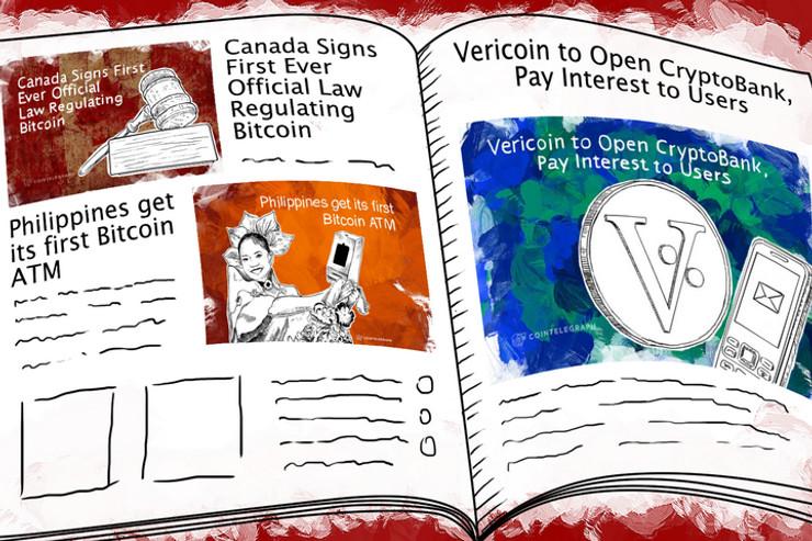 Weekend Roundup: Canada Regulates Bitcoin, a Filipino ATM, and Optimism Among VCs