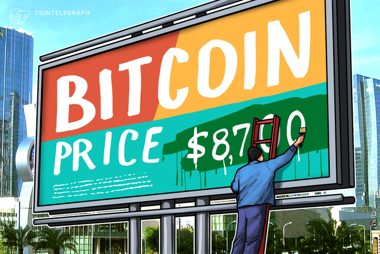 El precio de Bitcoin vuelve a USD 8,700 a medida que la resistencia se convierte en un nuevo soporte alcista