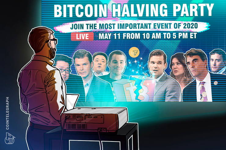 Join Cointelegraph's Bitcoin Halving Party, Less Than 3 Hours to Go