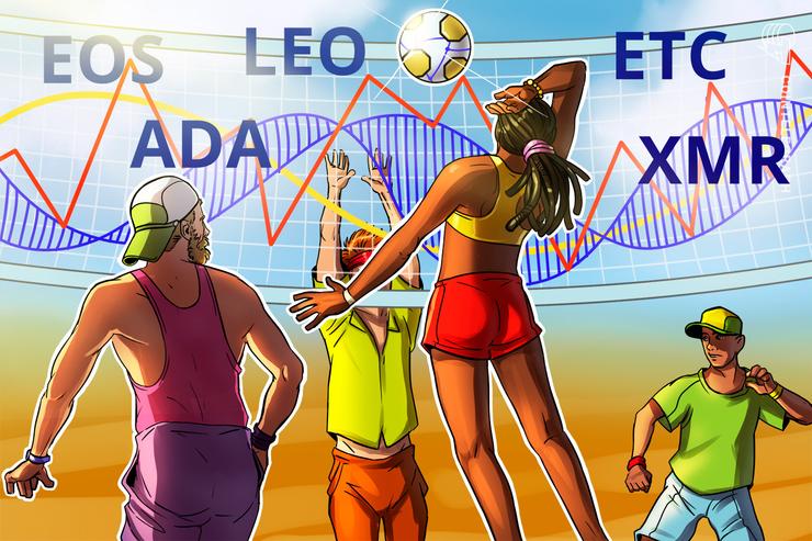 Las 5 monedas con mejor desempeño de la semana: EOS,  LEO, ETC, ADA, XMR