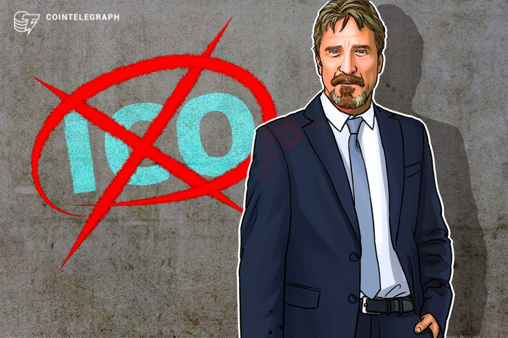 John McAfee Will No Longer Promote ICOs, Cites 'SEC Threats'