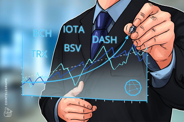 Top 5 Crypto Performers Overview: Bitcoin Cash, IOTA, TRON, Bitcoin SV, DASH