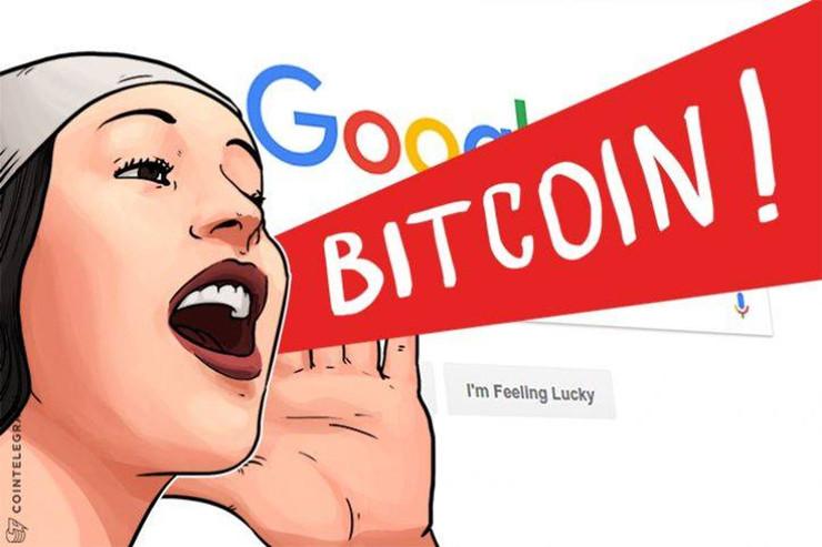ビットコイン VS 金 グーグル検索ランキング(4月10日)