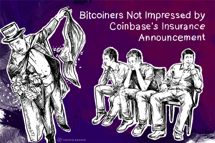 Bitcoiners Not Impressed by Coinbase's Insurance Announcement