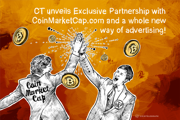 Cointelegraph's Exclusive Partnership with CoinMarketCap.com revealed