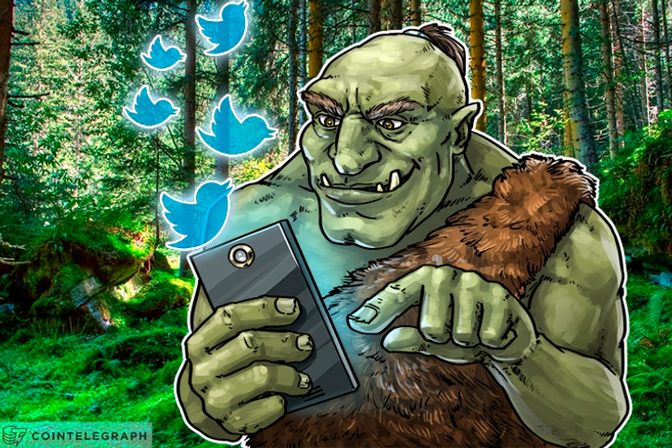 Trolls do Twitter surfando a onda do Bitcoin