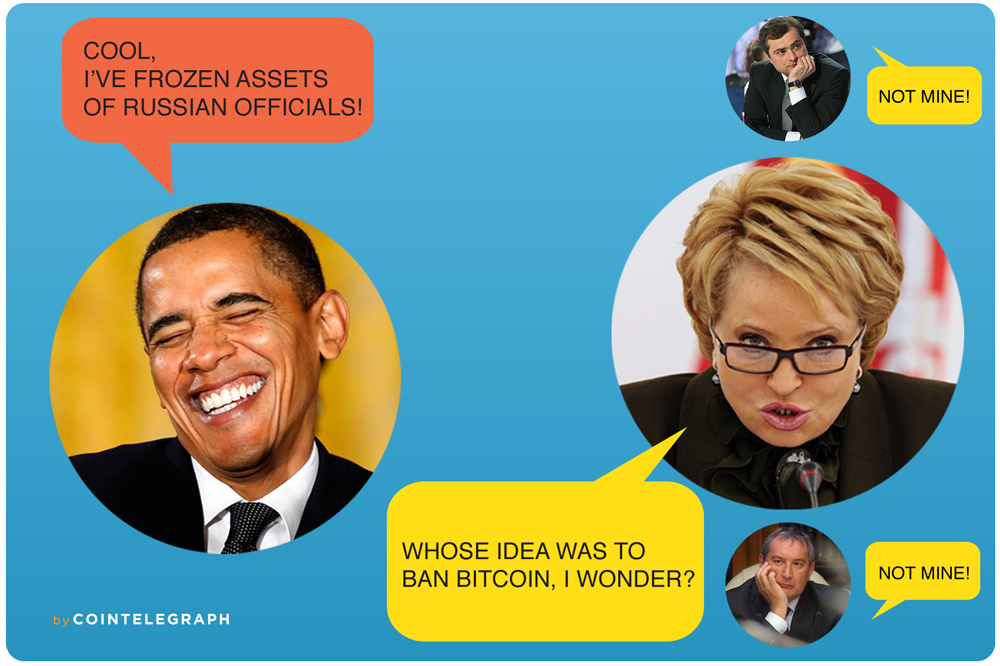 Sanctioning by US and EU do not change Russia's determination to wipe out Bitcoin
