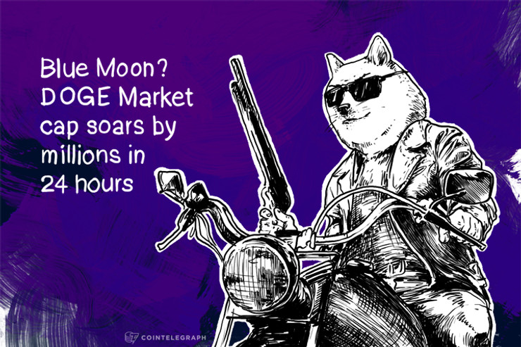 Blue Moon? DOGE Market cap soars by millions in 24 hours