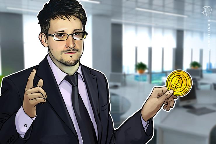 """Edward Snowden """"siente como que debe comprar Bitcoin"""" en medio de una caída de precios"""