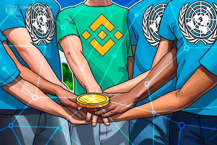 Binance gibt bei UN-Konferenz Blockchain-basierte Spenden-Website bekannt