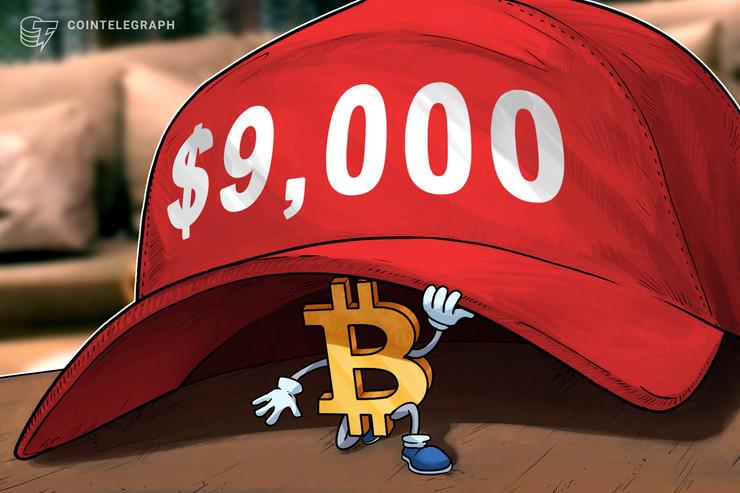 """El precio de Bitcoin se acerca a los $9,000, un multimillonario ve el dólar en una """"espiral deflacionaria"""""""