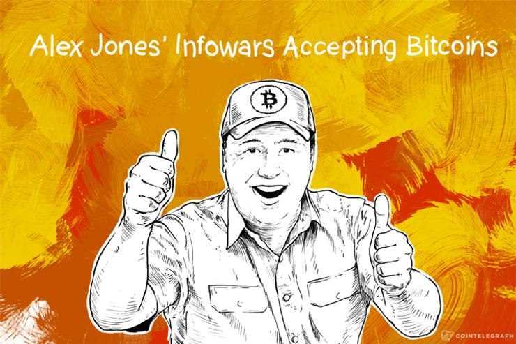 Alex Jones' Infowars Accepting Bitcoins