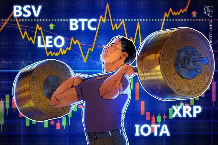 Top-5 Crypto Performers: BSV, BTC, XRP, LEO, IOTA