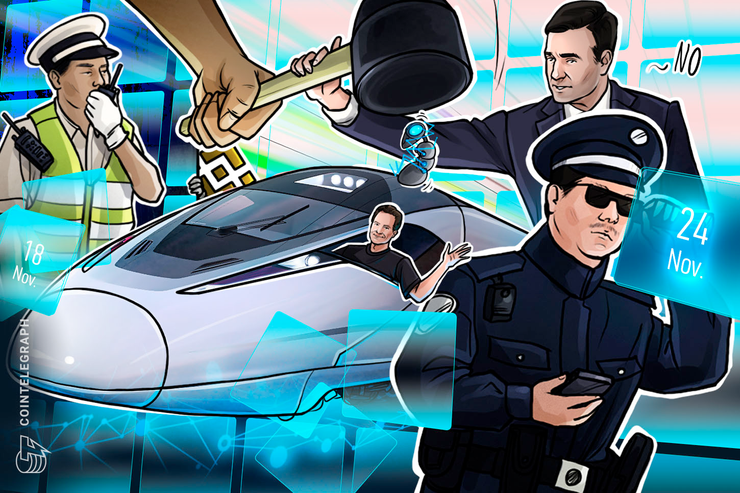Binance Denies Police Raid, Bitcoin Wipeout, Facebook 'Stupid': Hodler's Digest, Nov. 18–24