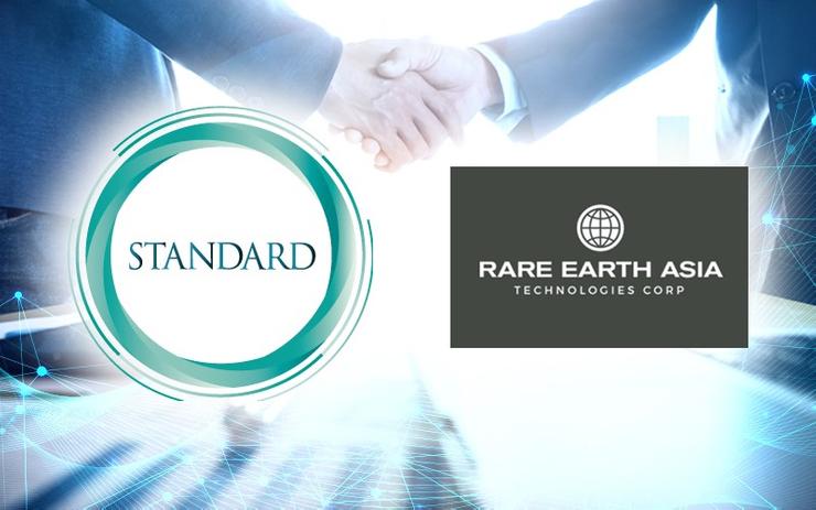 スタンダードキャピタル社がレアアース・アジア・テクノロジーズ社とのセキュリティトークン取引所運営のための合弁会社設立に合意