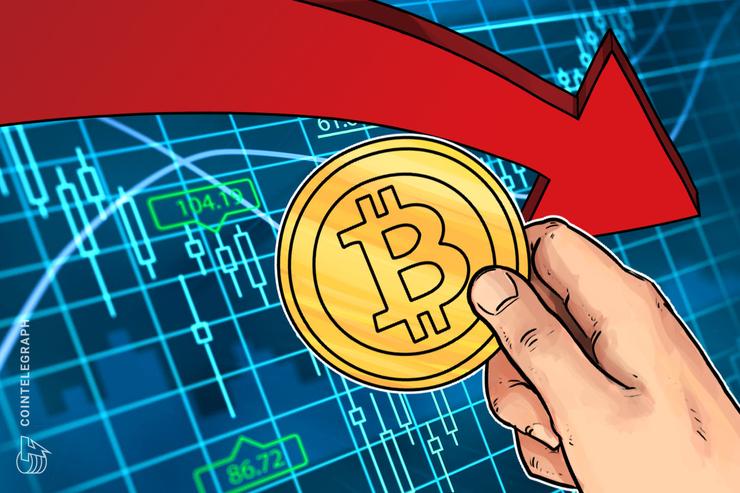 Notevole correzione dei mercati, Bitcoin torna a 8.300$