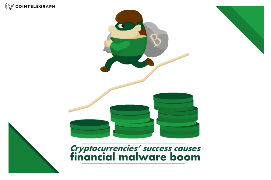 Cryptocurrencies' success causes financial malware boom