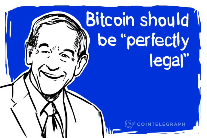 "Ron Paul: Bitcoin should be ""perfectly legal"""