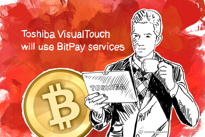 Toshiba VisualTouch will use BitPay services
